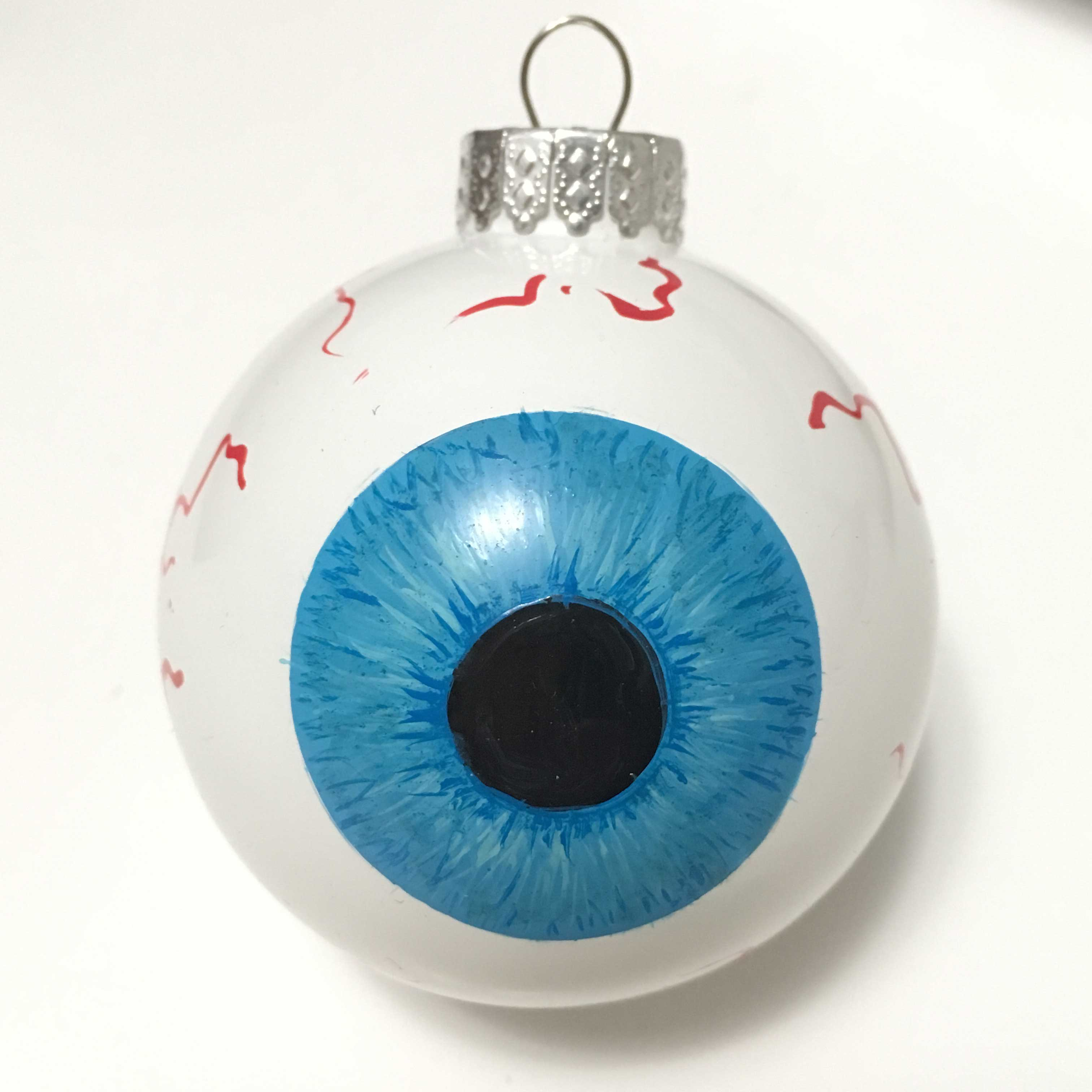 blue iris eyeball eye ornament