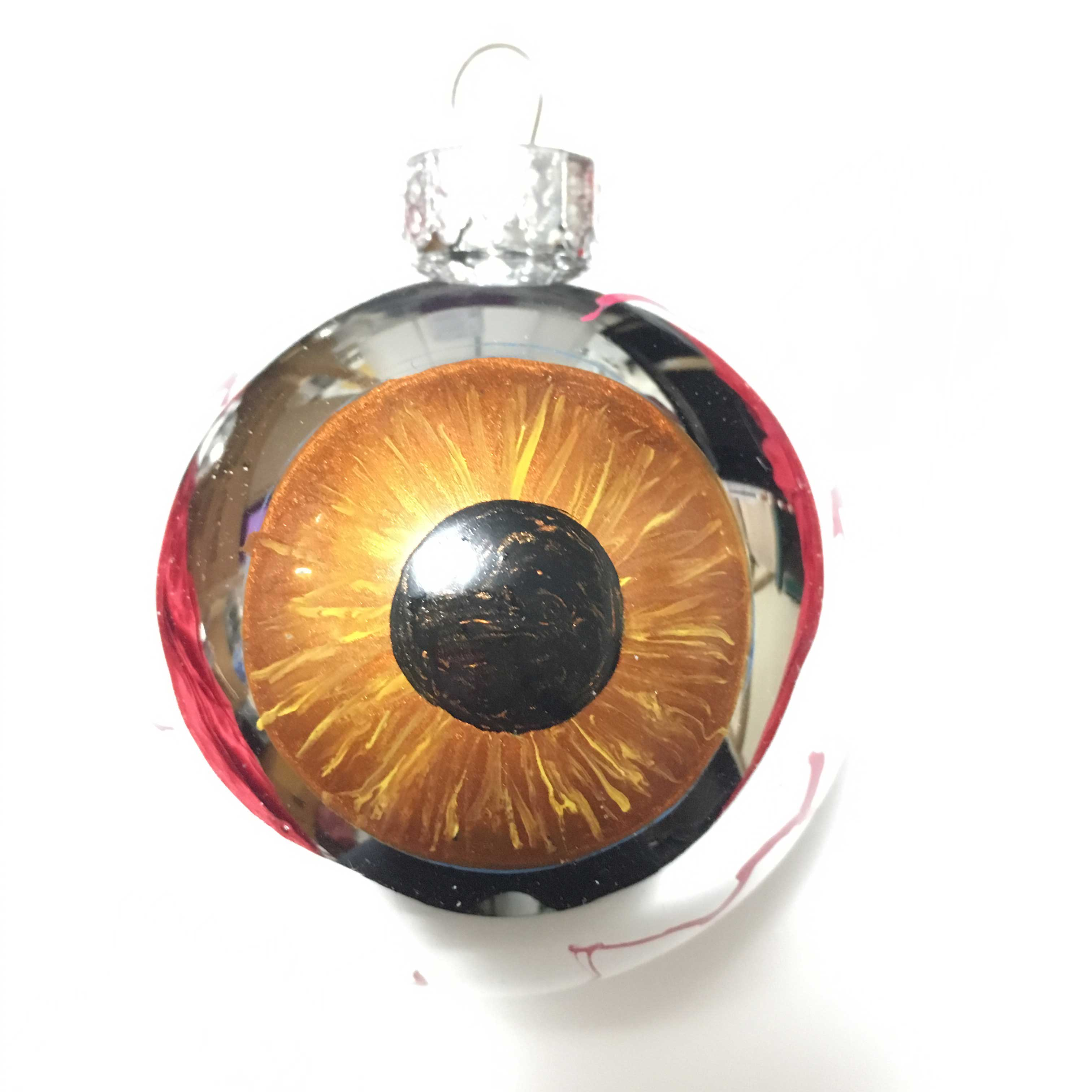 Brown eyeball ornament