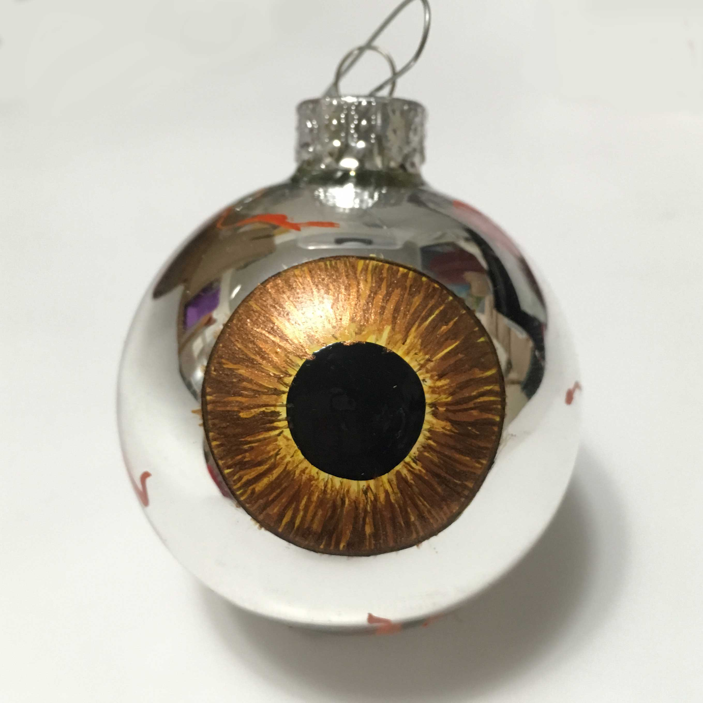 brown iris  eye eyeball ornament