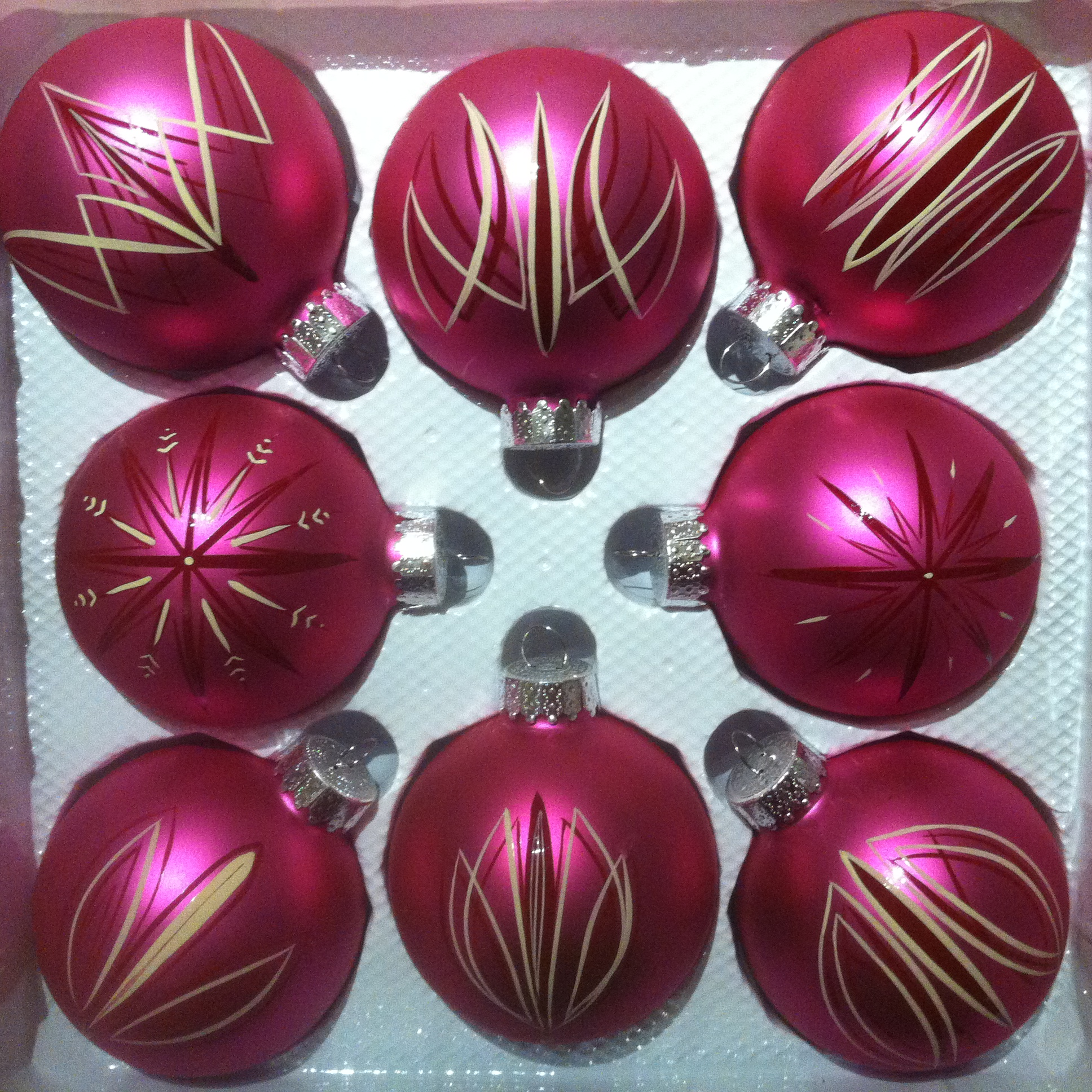 pink ornaments Set