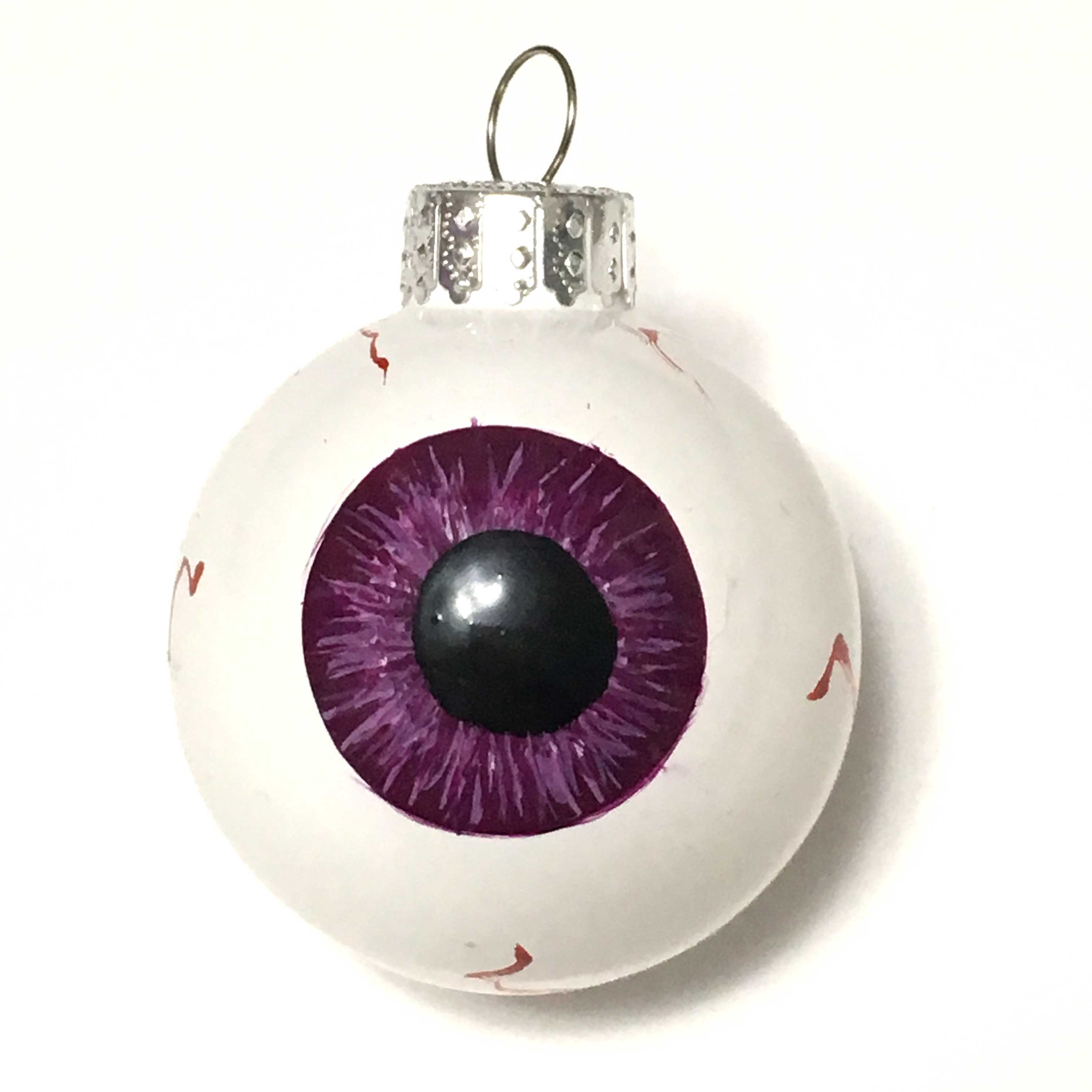 Purple iris eye eyeball ornament
