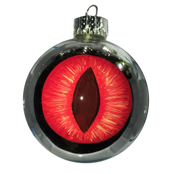 Red Cat eye ornament