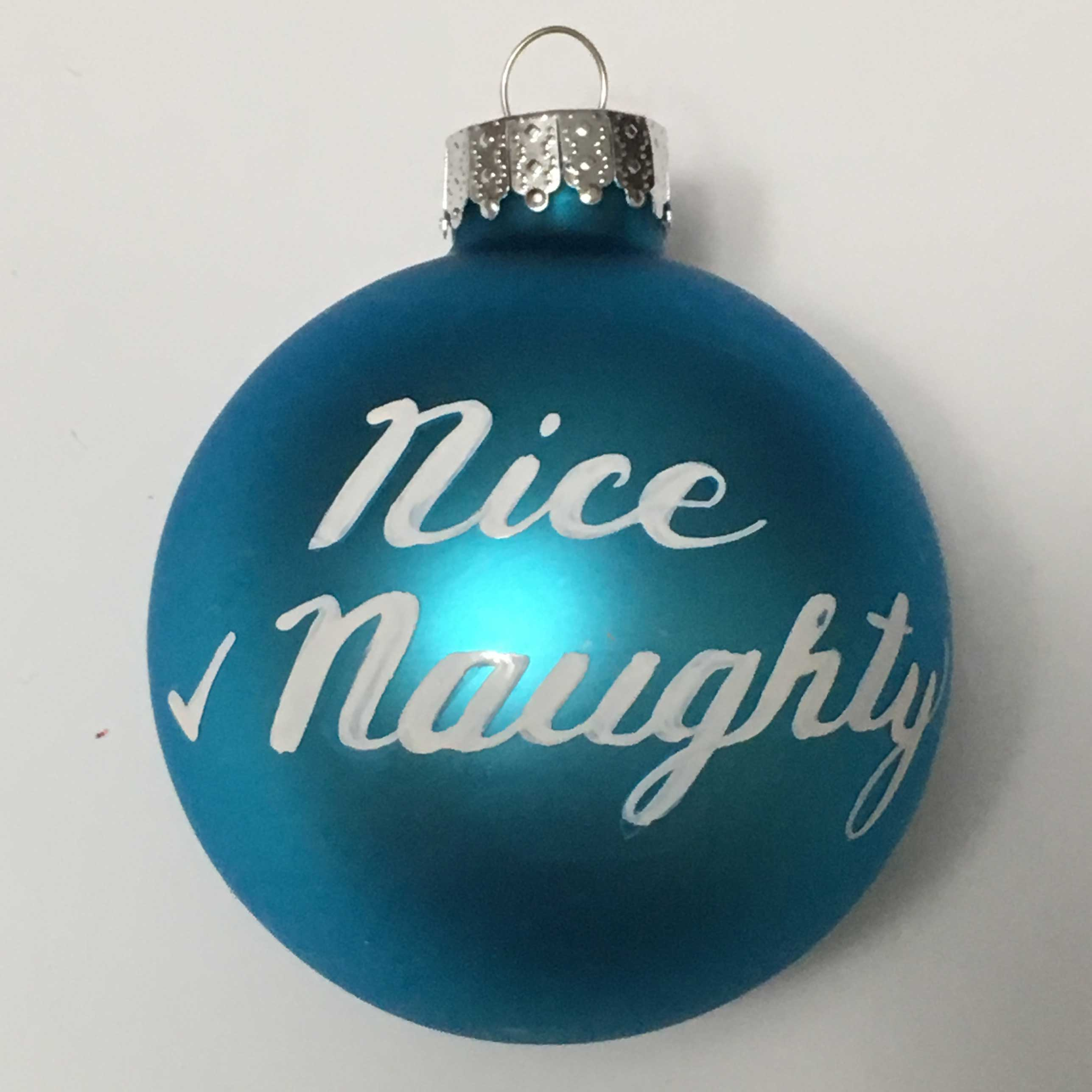 Nice Naughty ornament