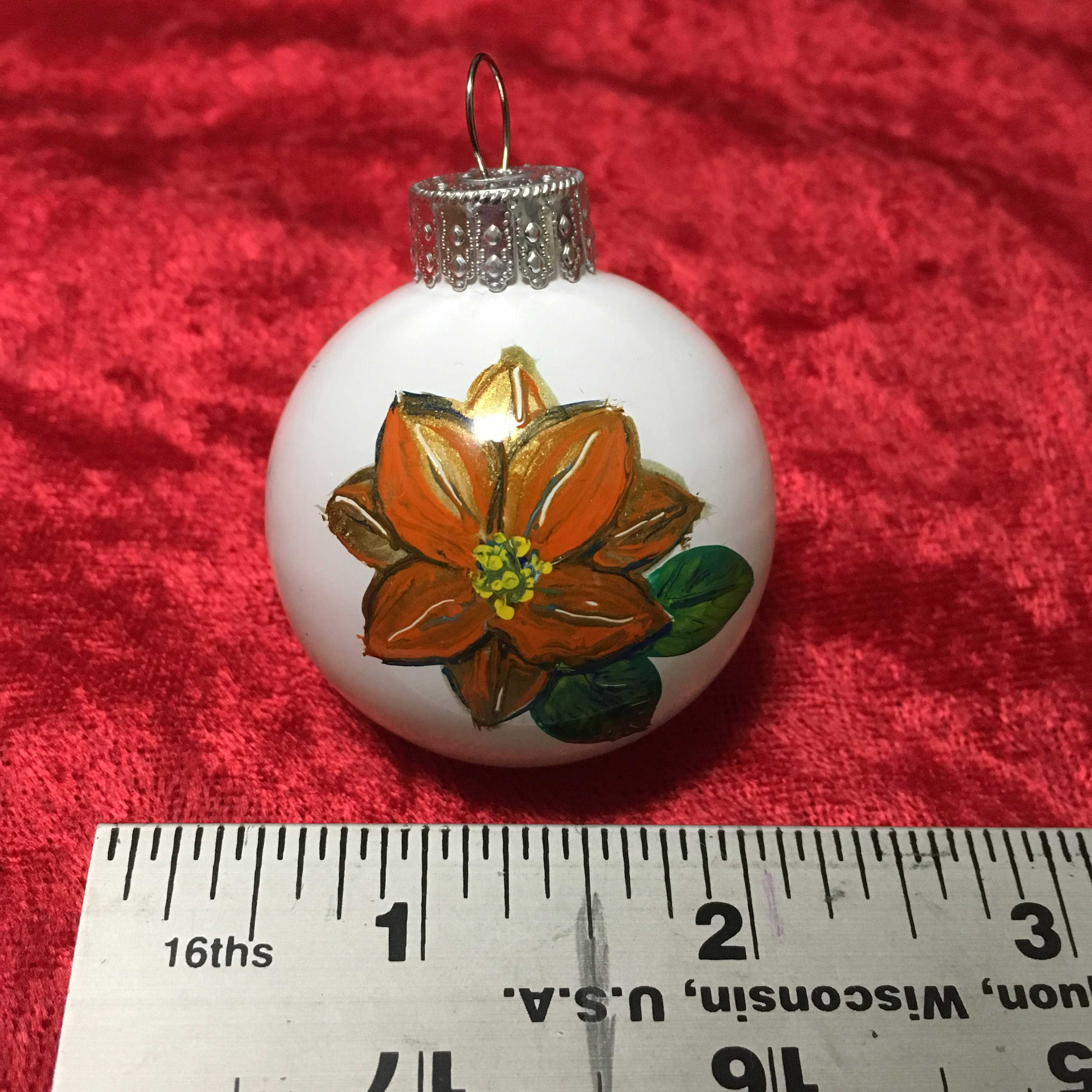 Orange Poinsettia ornament