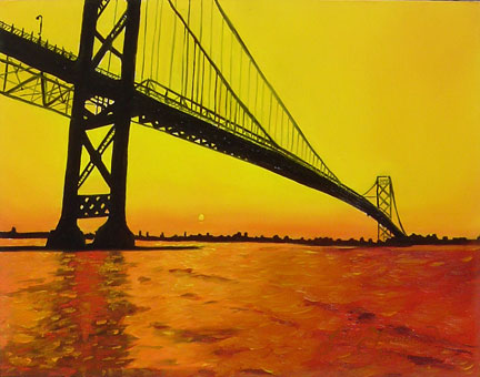 Ambassador Bridge painting