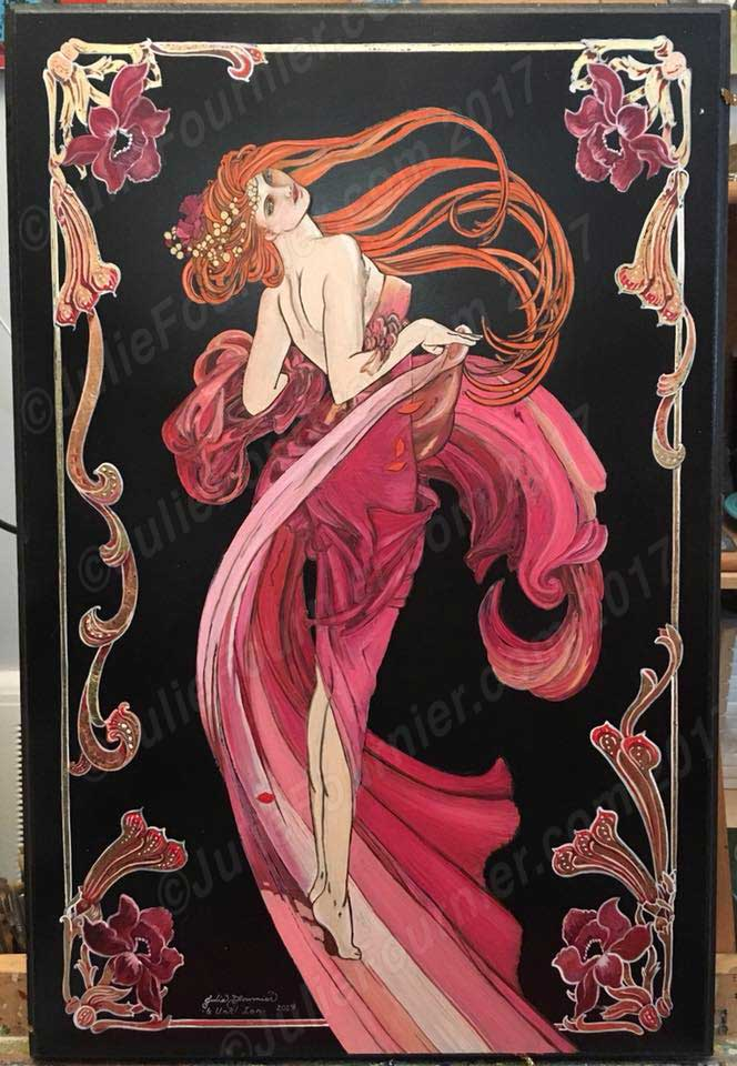Julie Fournier's Mucha panel