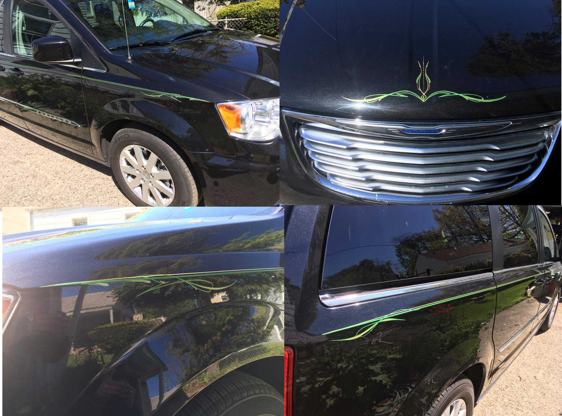 Pinstripes by Julie Fournier on Minivan