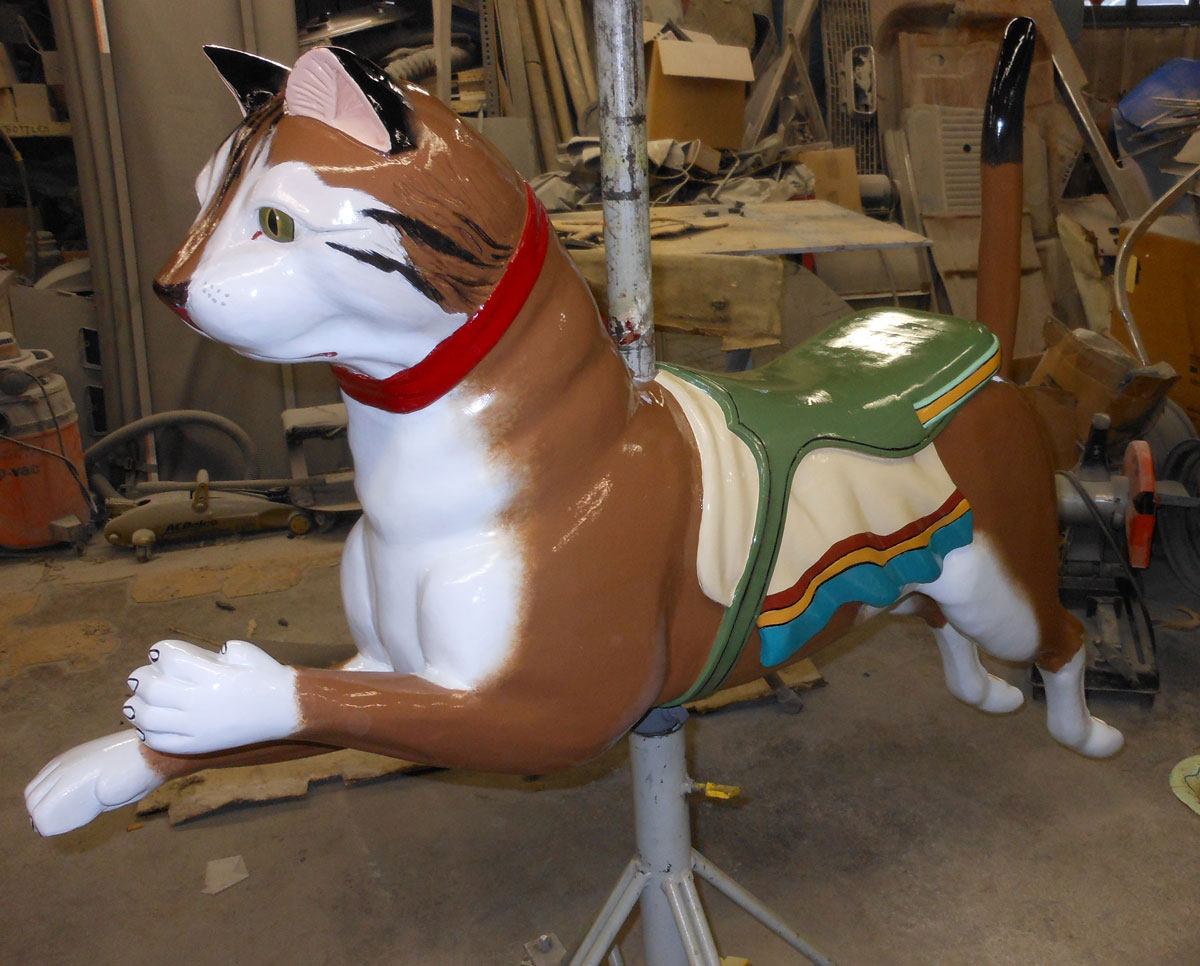Restored carousel cat from The Henry Ford Museum, Greenfield Village, Dearborn, MI