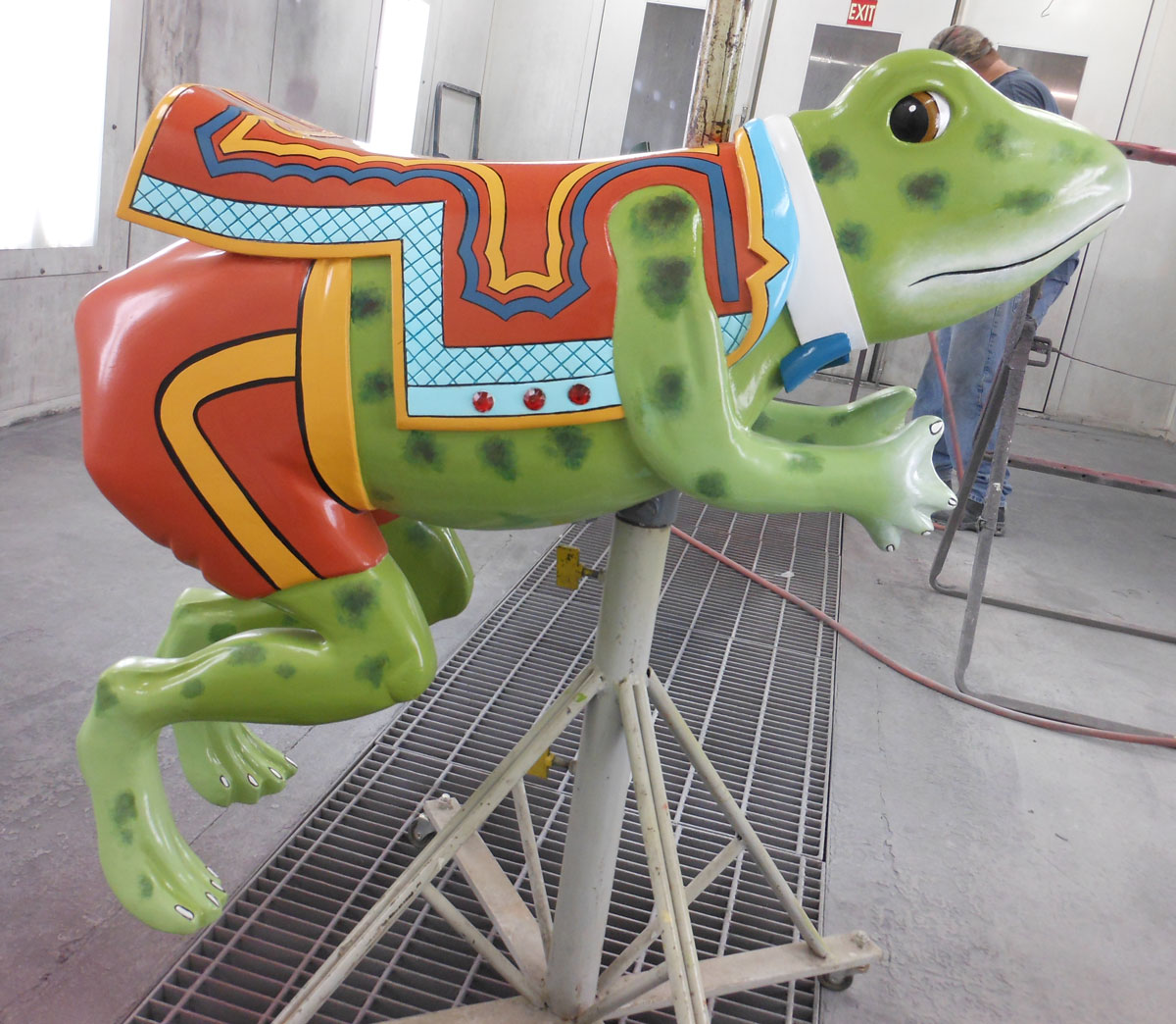 Restored carousel Hop Toad from The Henry Ford Museum, Greenfield Village, Dearborn, MI