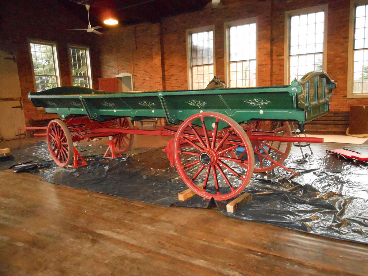 Restored Gruber Hay Flat Wagon from The Henry Ford Museum, Greenfield Village, Dearborn, MI