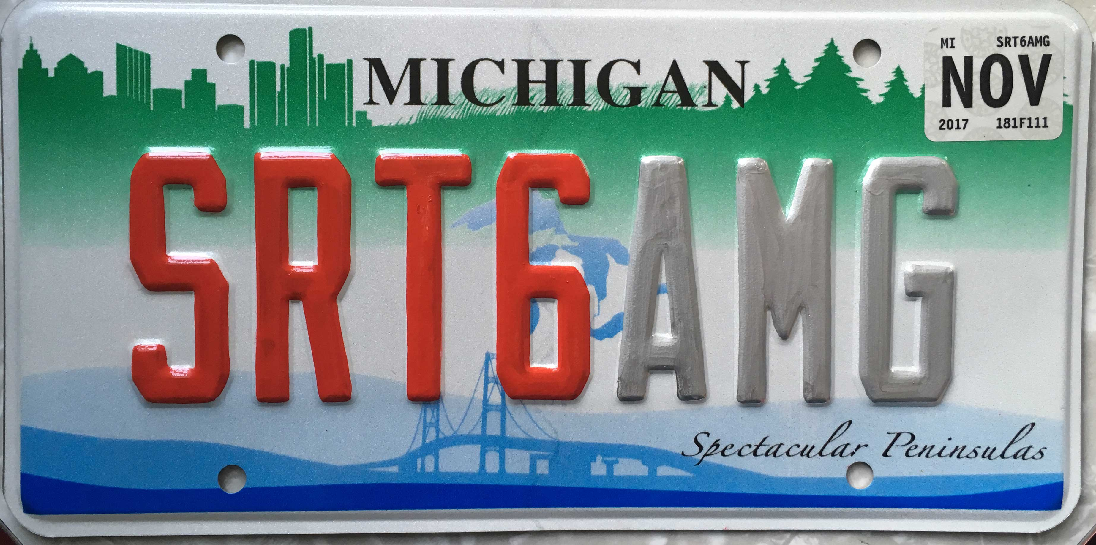 painted license plate by Julie Fournier